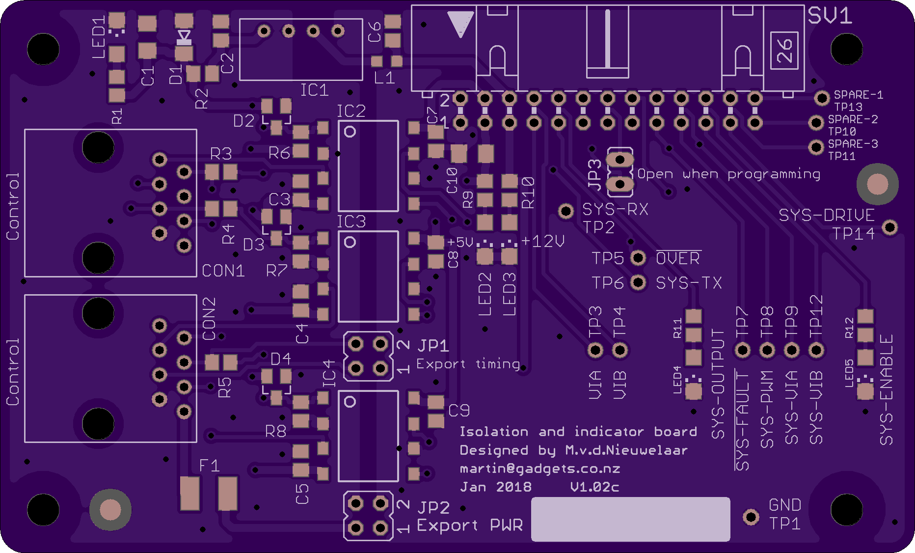 PCB for isolation board