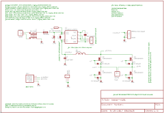 Schematic for boost converter